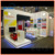 L shape trade show stand modular wooden exhibition stand design in shanghai china