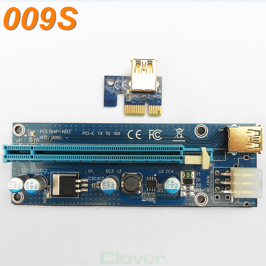 Stock status 005s pci express riser card 009s molex 6pin pcie