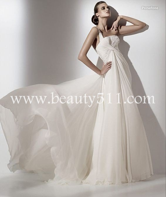 one shoulder elie saab hot sale wedding dress,bridal gown WDAH0093