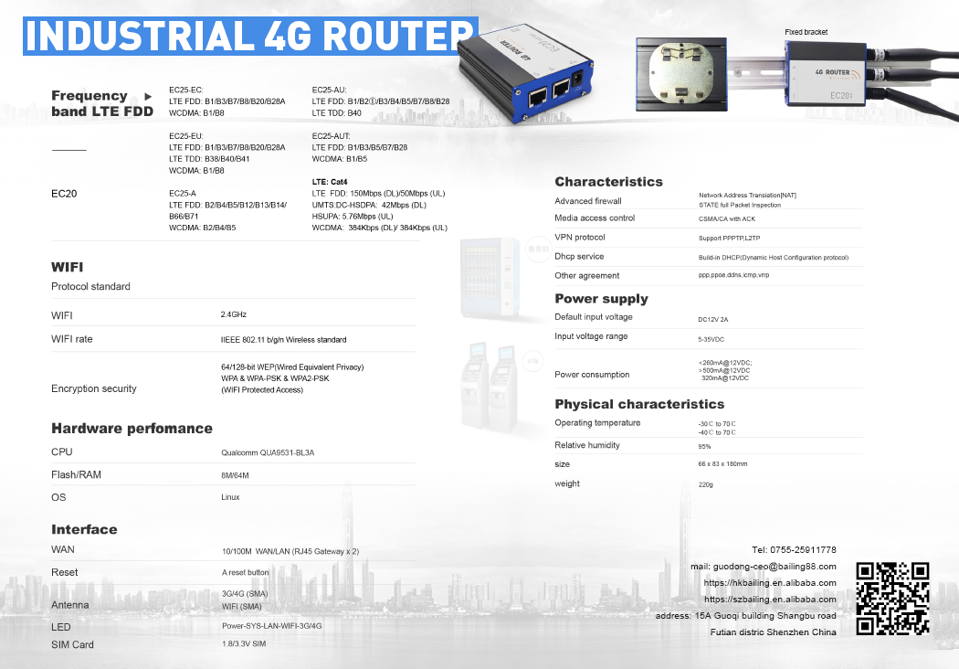 industrial 4g lte router 192.168.0.1 g/4g wireless router