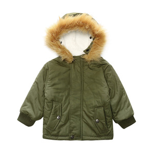 Winter Jacket For Boys Fur Hooded Baby Toddler Boys Winter Coat