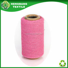 HB724 recycle regenerated open end blend cotton polyester fabric yarn ne t-shirt in China