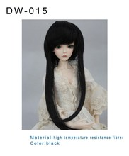 super popular natural black high quality hair wig new doll accessory wig wholesale