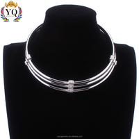 NYQ-00689z personalized gold silver collar neck lariat choker Multilayer metal necklace