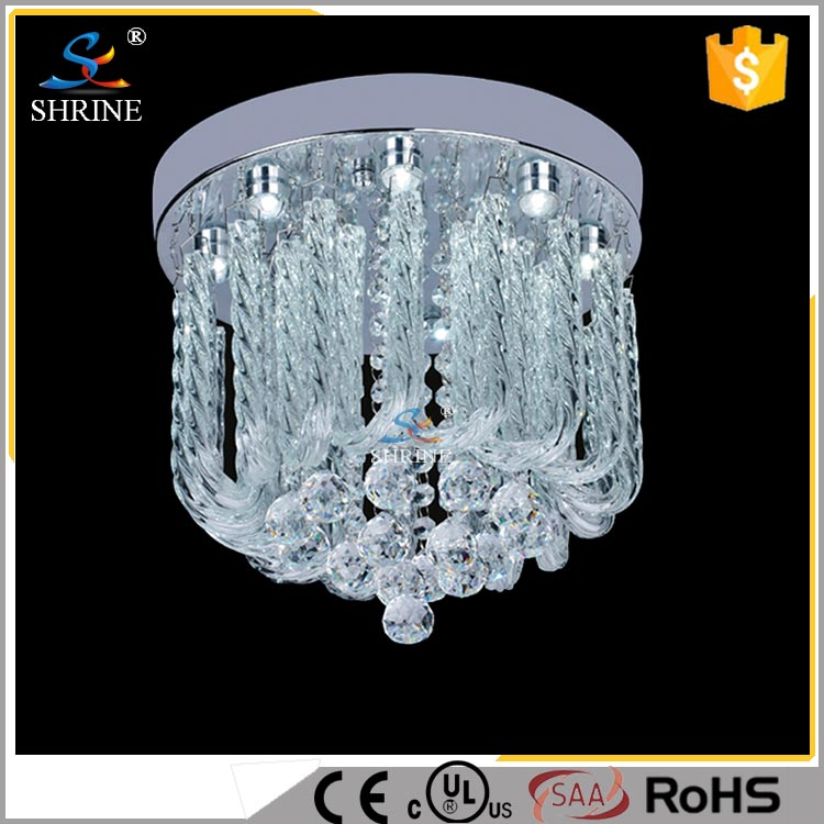 Alibaba Garishly Clearly Good Quality Modern Crystal Ceiling Lighting