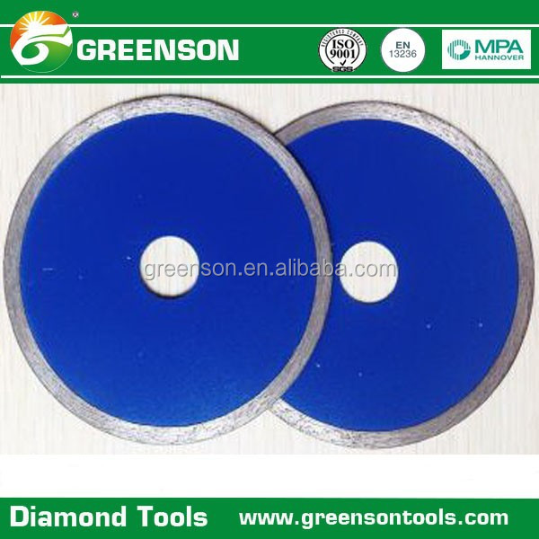 fast cutting continuous rim ceramic and porcelain tile diamond saw blade with stable performance