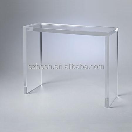 Clear high quality acrylic console table perspex tables for Small acrylic console table