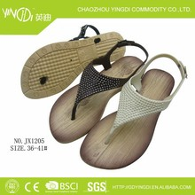 2014 Pvc self-confident women buckle strap in women 's sandals beach shoes upper diamond shaped
