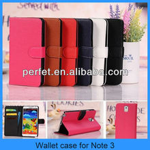 2013 New Lichee Pattern Flip Wallet Case PU Leather Cover for Samsung galaxy Note 3 phone case for note 3(PT-SN3L209)