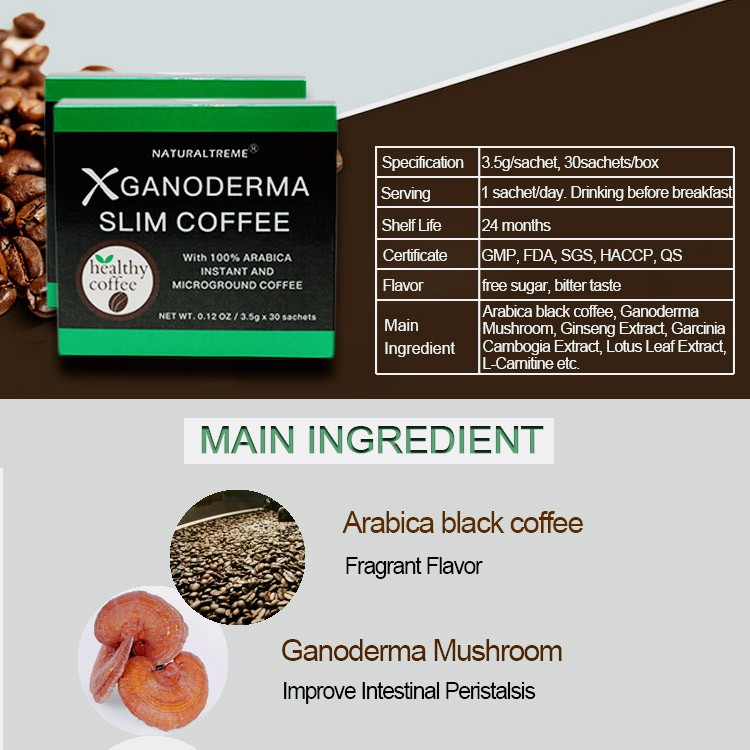 2016 New Arrival No Redounding Ganoderma Coffe 3 In 1