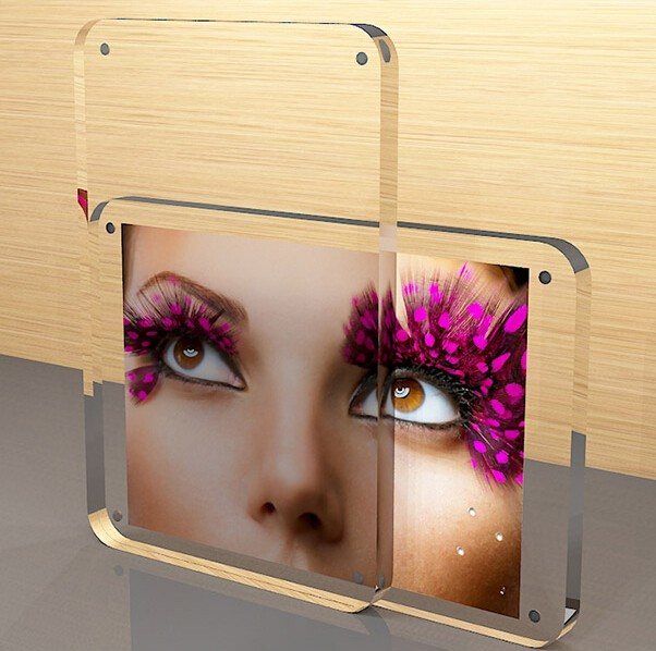 Hot sexy customized acylic photo frame magnetic photo frame