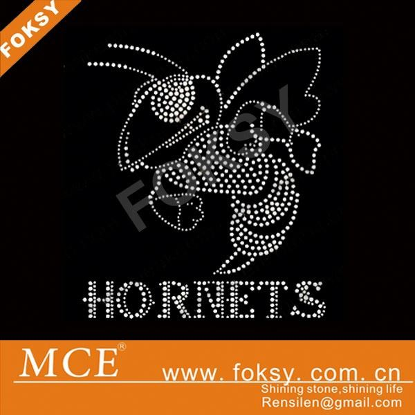 hornets iron on rhinestone transfer motif for Tshirt - FOKSY