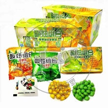 New shape apple and pineapple double flavors fruit chew candy