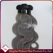 #1B/Gray ombre hair extension 7A Brazilian Virgin Hair Body Wave Silver Grey Hair Weave 3 Pcs/Lot grey remy human hair weave