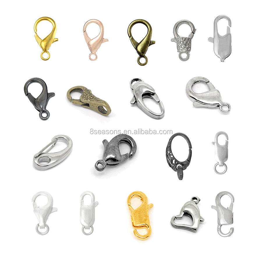 Wholesale Jewelry Findings 100PCs Black Lobster Parrot Clasps