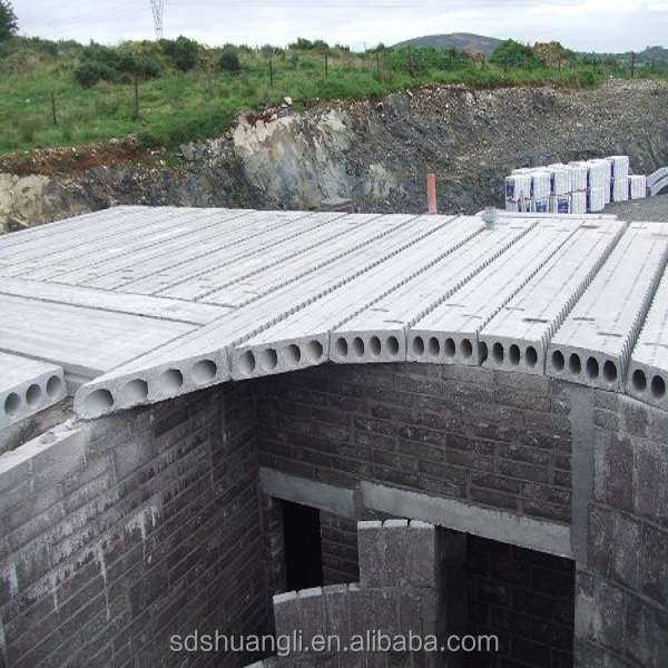 Hollow Core Precast Concrete : Precast plant equipment hollow core roof slabs machine