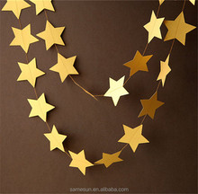 4m five-pointed stars shaped paper garlands for weddings decoration