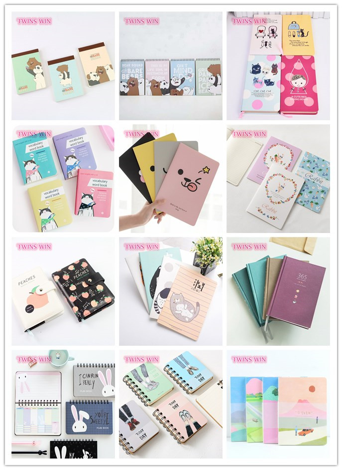 2018 imported school supplies bulk cheap cartoon cute paper plain notebooks for children