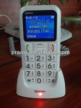 2016 hot selling unlocked bar 3G senior phone with sos emergency button, arabic / hebrew multi languages shenzhen factory