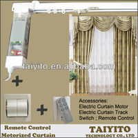 Home bidirectional Remote control Intelligent Curtain, Motorized Curtain