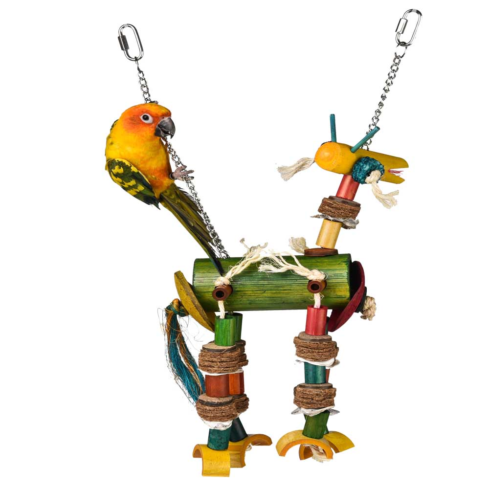 Bamboo Giraffes Foraging parrot Toy natural Foraging small bird toy for sale
