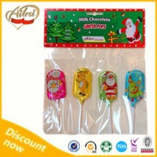 40g Christmas chocolate lollipop/milk chocolate/Turkish chocolate