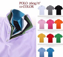 260gsm cotton polyester wholesale polo shirt blank custom mens polo t shirt