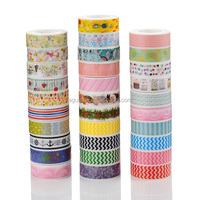 Hot Sale Beautiful Colorful Printing Paper Tape Decorative Wholesale