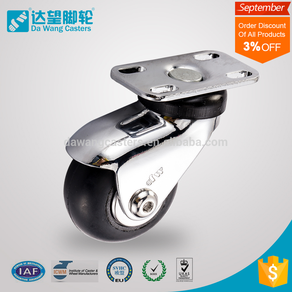 57kg load small rubber wheel with bearings price
