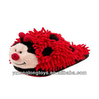 plush animal slipper cute ladybug plush slipper