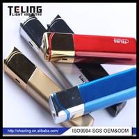 easy to carry refillable style windproof long slim metal lighter