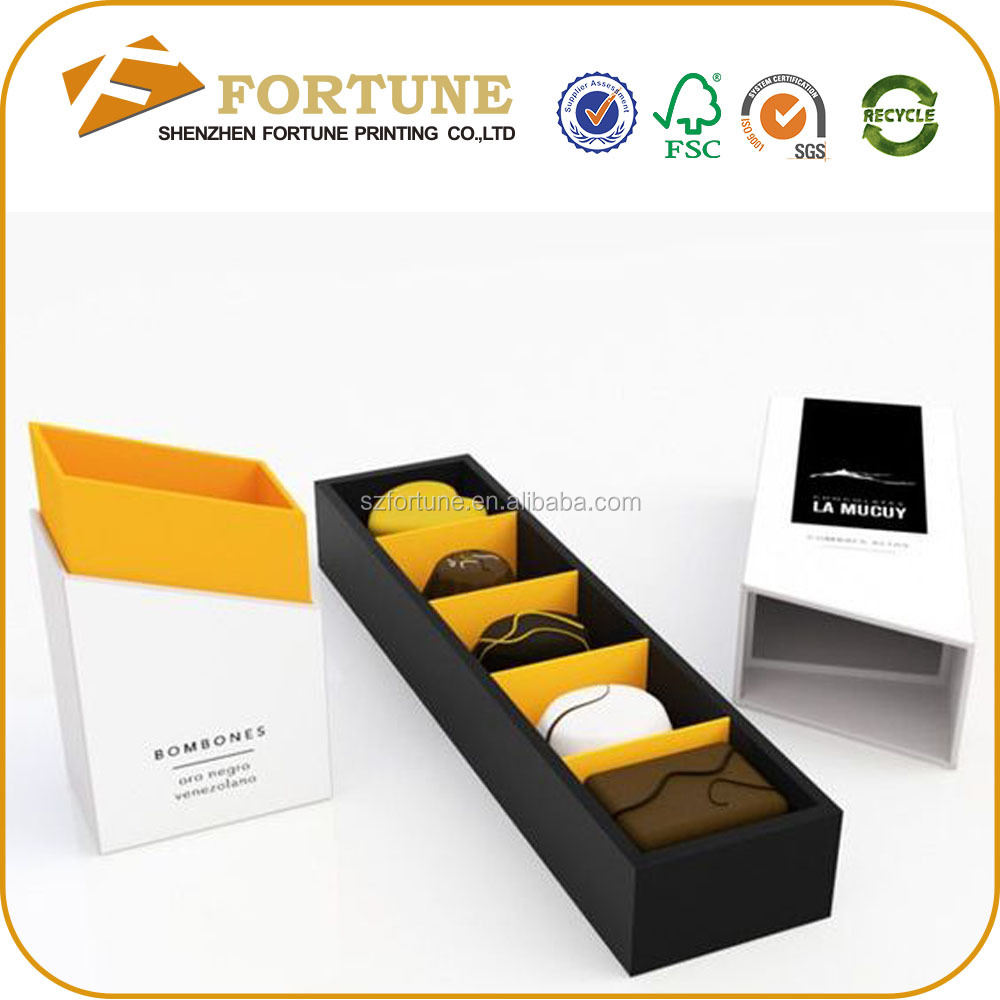 Professional yifeng different design chocolate packing box with insert tray