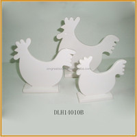 wholesale white ceramic easter cock ornament porcelain cock