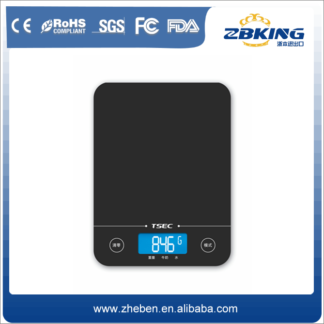 Hot-selling lcd glass knife kitchen weight scale with bluetooth