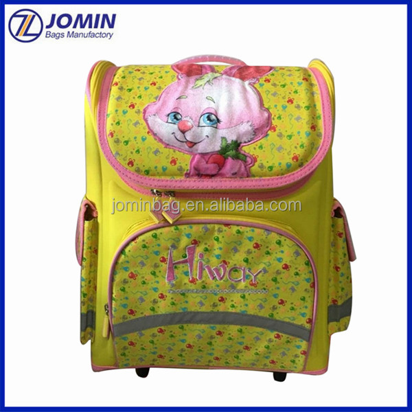 Wholesale rabbit printing one piece together lovely girl picture school bag, cheap kids school bags online