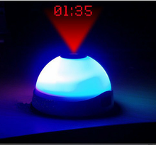 Creative LED Color-Change Star Night Light Magic Projection Silent Alarm Clock 7 Color Change LED Night Light CA6186