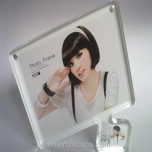 Morden fashion customize acrylic paper frames for photos