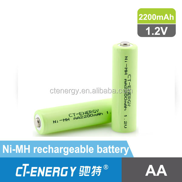 Ni-MH 1.2V aa 2200mah battery made in china nimh rechargeable battery for power tools
