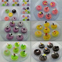 2016 New Products Fake Food Model Simulation Doughnut PU Donut For Decoration 6.5cm