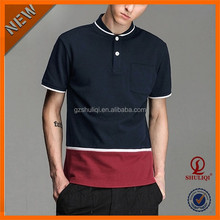 Glamorous Men Promotional Embroidered Polo Shirt/Fresh Men V Neck Short Sleeve High Quality Polo T Shirts