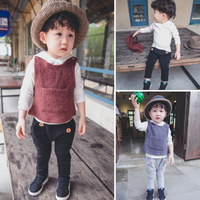 New Arrival Kids Suits Boys 3 Piece Clothing Sets Include White Hooded Bottoming T-shirt And Vest And Pants In Stock CS81107-12