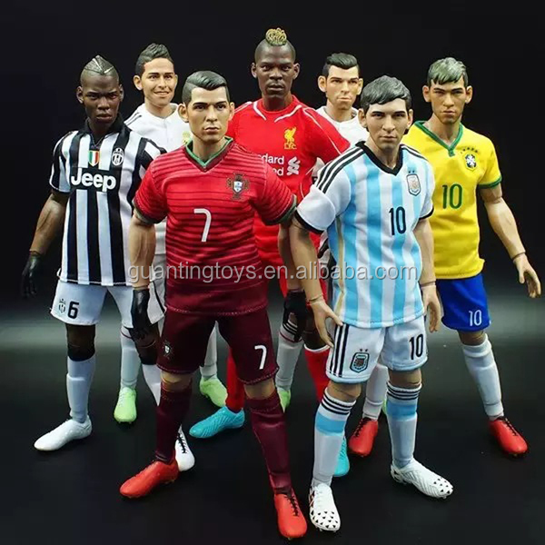 jointed movable action figure,football soccer player action figure,3d cartoon action figure