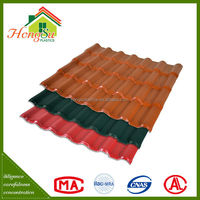 Exclusive design fire resistance ASA synthetic oriental roof tile