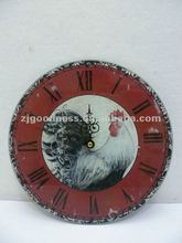 Good Sale 11-7/8'' D Glass Clock Rooster