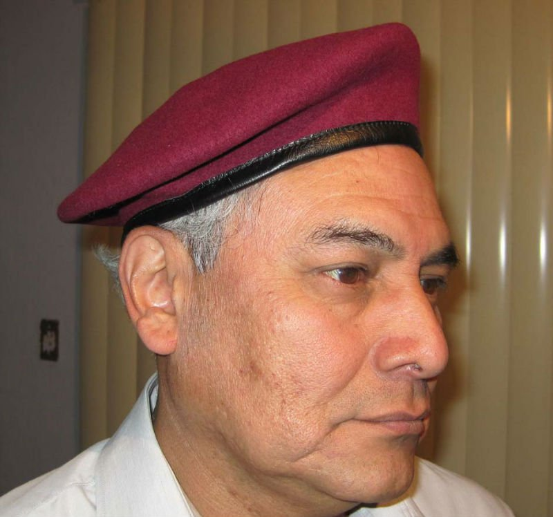 100% wool promotional bordured cowhide military beret
