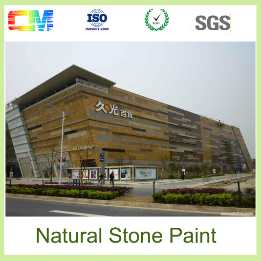 New durability good abrasive resistance liquid spray acrylic natural stone outdoor wall paint