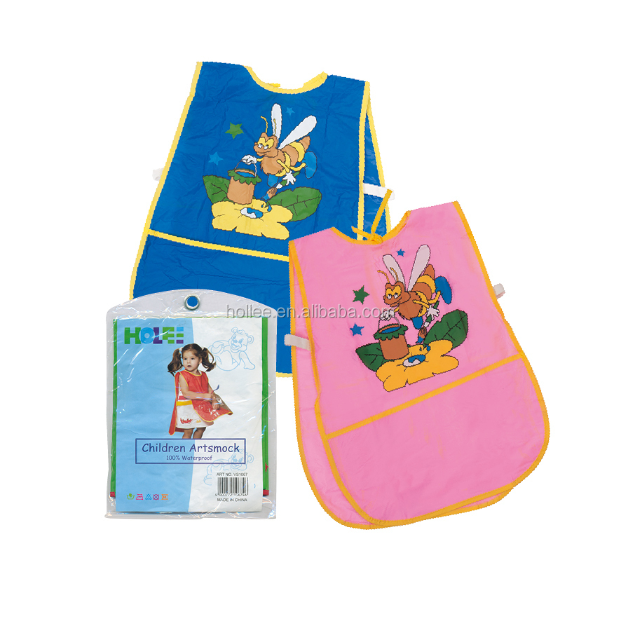 Hollee Supply 100% pvc Pink and Blue Plastic Kids Apron
