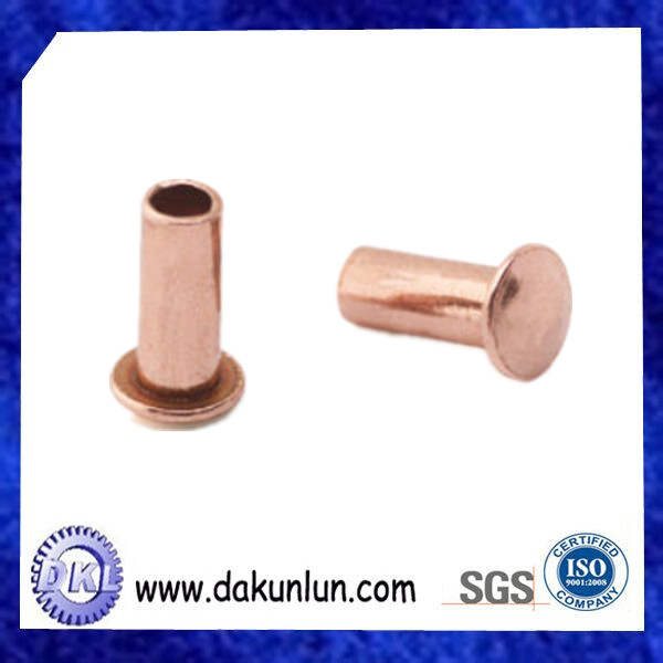 Custom Half-hollow Round Head Copper Rivet