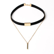 Fashion new style nwholesale leather choker <strong>necklace</strong> for women