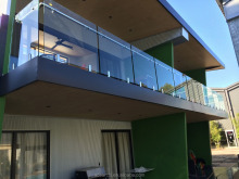 Easy Installation terrace railing designs with stainless steel top rail and glass